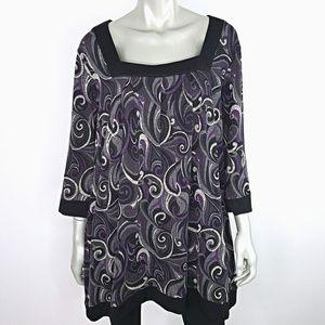 Avenue Womens Knit Top Plus Size 18/20